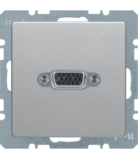 Q.x Gniazdo VGA, zaciski śrubowe, alu aksamit, lakierowany Berker 3315416084