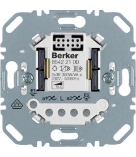 one.platform Ściemniacz uniwersalny przyciskowy podwójny, mechanizm Berker.Net, zaciski śrubowe Berker 85422100