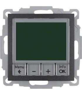 B.x Regulator temperatury ze sterowaniem czasowym ze stykiem zwiernym i elementem centralnym, antracyt Berker 20441606
