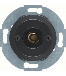 Serie 1930/Glas Łącznik i sygnalizator świetlny E10 z elementem centralnym, czarny Berker 510401