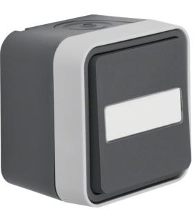 W.1 Łącznik uniwersalny przyciskowy, podświetlane pole opisowe, kompletny, IP55, szary Berker 50763555
