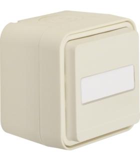 W.1 Łącznik uniwersalny przyciskowy, podświetlane pole opisowe, kompletny, IP55, biały Berker 50763552
