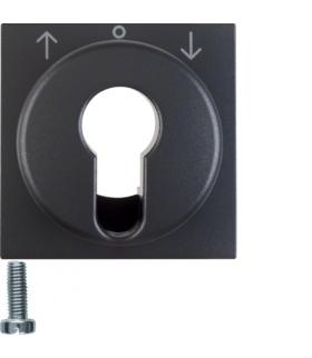 B.x Płytka czołowa do łącznika żaluzjowego na klucz, antracyt mat Berker 15061606