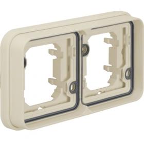 W.1 Ramka 2-krotna pozioma do montażu podtynkowego, IP55, biały Berker 13293502