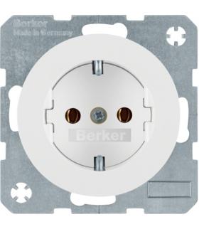 R.1/R.3 Gniazdo SCHUKO, samozaciski, biały, połysk Berker 47432089