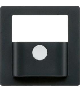 KNX e/s Q.x Płytka czołowa do modułu czujnika ruchu KNX,  antracyt aksamit,  lak.