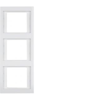 K.1 Ramka 3-krotna, pionowa, biały, połysk Berker 13337009
