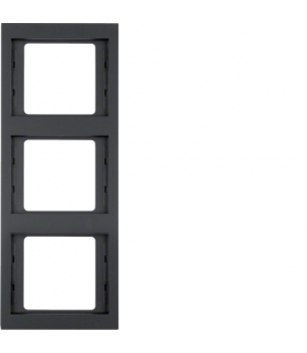 K.1 Ramka 3-krotna, pionowa, antracyt mat, lakierowany Berker 13337006