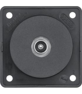Integro Flow Gniazdo przyłaczeniowe anteny TV, mechanizm, czarny, mat Berker 9451115