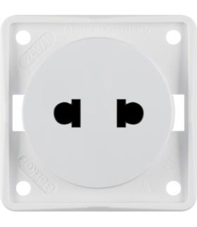 """Integro Flow Gniazdo bez uziemienia """"Standard Euro-Amerykański"""", biały, mat Berker 962572502"""