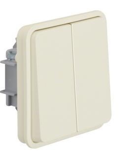 W.1 Moduł łącznika świecznikowy przyciskowy wspólne zaciski wejściowe, IP55, biały Berker 50423512
