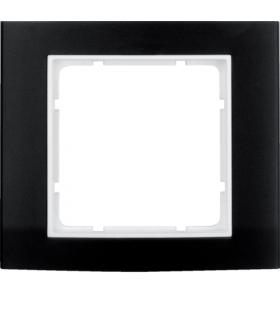 B.3 Ramka 1-krotna, alu, czarny/biały Berker 10113025