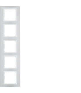 B.3 Ramka 5-krotna, alu/biały Berker 10153904