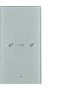 KNX TS Sensor dotykowy 1-krotny konfigurowalny,  szkło,  alu