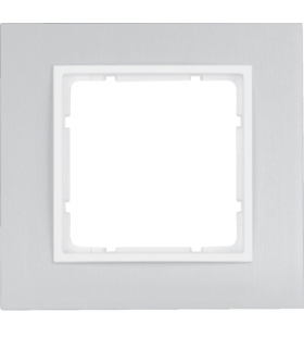 B.7 Ramka 1-krotna, alu/biały mat Berker 10116914