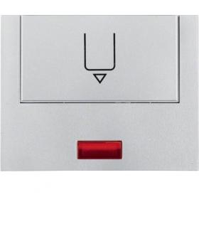 K.5 Nasadka z nadrukiem i czerwoną soczewką do łącznika na kartę hotelową, aluminium mat, lakierowana Berker 16417103