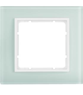 B.7 Ramka 1-krotna, szkło białe/biały mat Berker 10116909