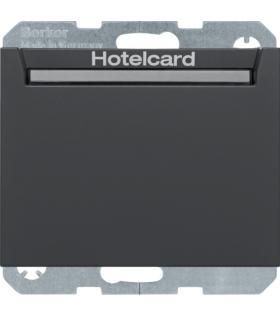 K.1 Łącznik przekaźnikowy na kartę hotelową, antracyt mat Berker 16417116