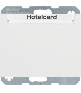 K.1 Łącznik przekaźnikowy na kartę hotelową, biały mat Berker 16417119