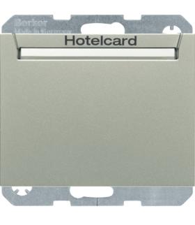 K.5 Łącznik przekaźnikowy na kartę hotelową, stal szlachetna lakierowany Berker 16417114