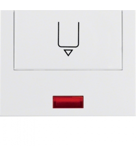 K.1 Nasadka z nadrukiem i czerwoną soczewką do łącznika na kartę hotelową, biały Berker 16417109