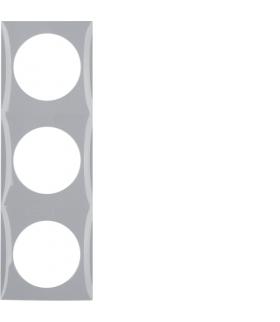 Integro Flow Ramka 3-krotna, szary, połysk Berker 918192507