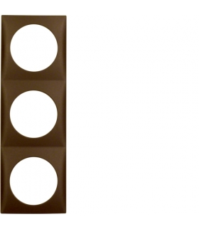 Integro Flow Ramka 3-krotna, brązowy, mat Berker 918192511