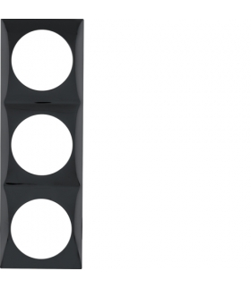 Integro Flow Ramka 3-krotna, czarny, połysk Berker 918192510