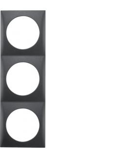 Integro Flow Ramka 3-krotna, antracyt, mat Berker 918192515