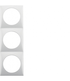 Integro Flow Ramka 3-krotna, biały, połysk Berker 918192519