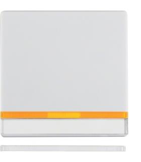 Q.x Klawisz z 2 dołączonymi soczewkami i polem opisowym do łącznika 1-klawiszowego, biały, aksamit Berker 16286089