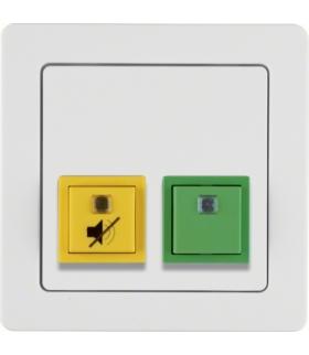 Q.1 System przywoławczy Przycisk anulowania/potwierdzenia obecności z ramką, biały aksamit Berker 52056089