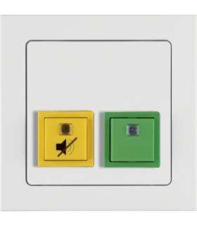 Q.3 System przywoławczy Przycisk anulowania/potwierdzenia obecności z ramką, biały aksamit Berker 52056099