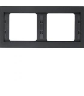 K.1 Ramka 2-krotna, pozioma, antracyt mat, lakierowany Berker 13637006