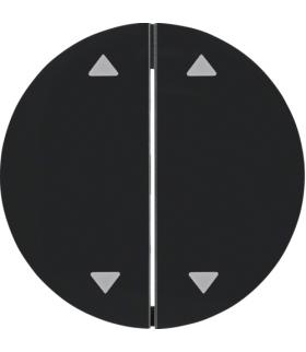 """R.1/R.3 Klawisze z nadrukiem symbolu """"strzałki"""" do łącznika 2-klawiszowego, czarny, połysk Berker 16442045"""