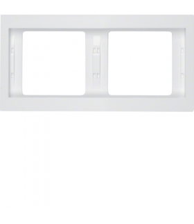 K.1 Ramka 2-krotna, pozioma, biały, połysk Berker 13637009