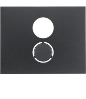 K.1 Płytka czołowa do gniazda głośnikowego, antracyt mat, lakierowany Berker 11847006