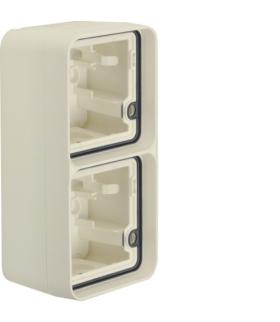 W.1 Adapter natynkowy 2-kr pionowy, 2 wejścia, IP55, biały Berker 6719333502