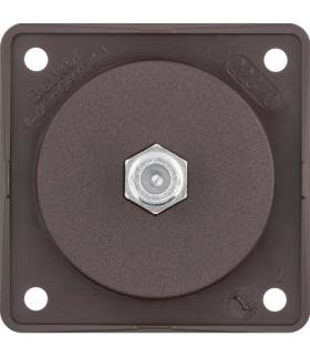 Integro Flow Gniazdo przyłączeniowe anteny SAT, brązowy, mat Berker 945192501