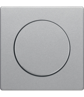 Q.x Płytka czołowa z pokrętłem regulacyjnym do ściemniacza obrotowego, alu aksamit, lakierowany Berker 11376084