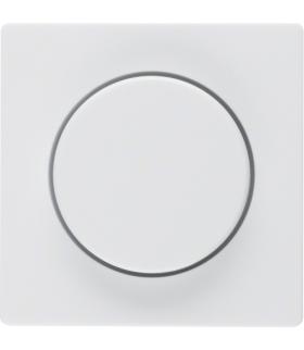 Q.x Płytka czołowa z pokrętłem regulacyjnym do ściemniacza obrotowego, biały, aksamit Berker 11376089