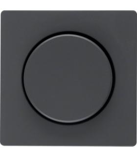 Q.x Płytka czołowa z pokrętłem regulacyjnym do ściemniacza obrotowego, antracyt aksamit, lakierowany Berker 11376086