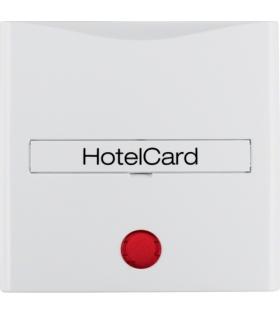 B.x/S.1 Nasadka z nadrukiem i czerwoną soczewką do łącznika na kartę hotelową, biały, połysk Berker 16408989
