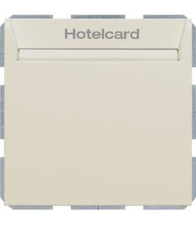 B.Kwadrat Łącznik przekaźnikowy na kartę hotelową, kremowy, połysk Berker 16408992