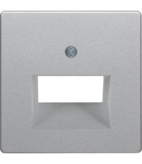 Q.x Płytka czołowa do gniazda przyłączeniowego UAE 2-kr komputerowego i telefonicznego, alu aksamit, lakierowany Berker 14096084