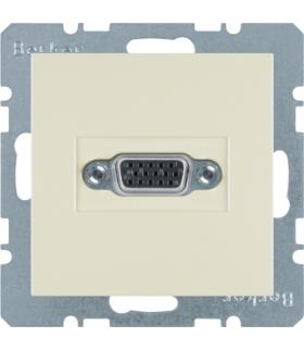 B.Kwadrat/S.1 Gniazdo VGA, zaciski śrubowe, kremowy, połysk Berker 3315418982