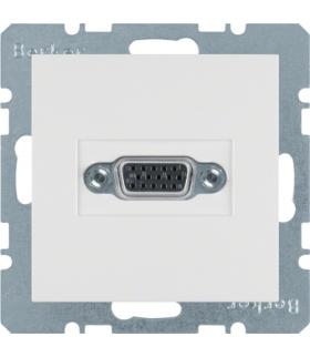B.x/S.1 Gniazdo VGA, zaciski śrubowe, biały, połysk Berker 3315418989