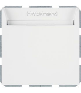 B.Kwadrat Łącznik przekaźnikowy na kartę hotelową, biały, połysk Berker 16408999