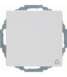 Q.x Gniazdo SCHUKO z pokrywą z podwyższoną ochroną styków, biały, aksamit Berker 47446089