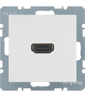 S.1/B.3/B.7 Gniazdo HDMI z przyłączem 90°, biały, mat Berker 3315431909